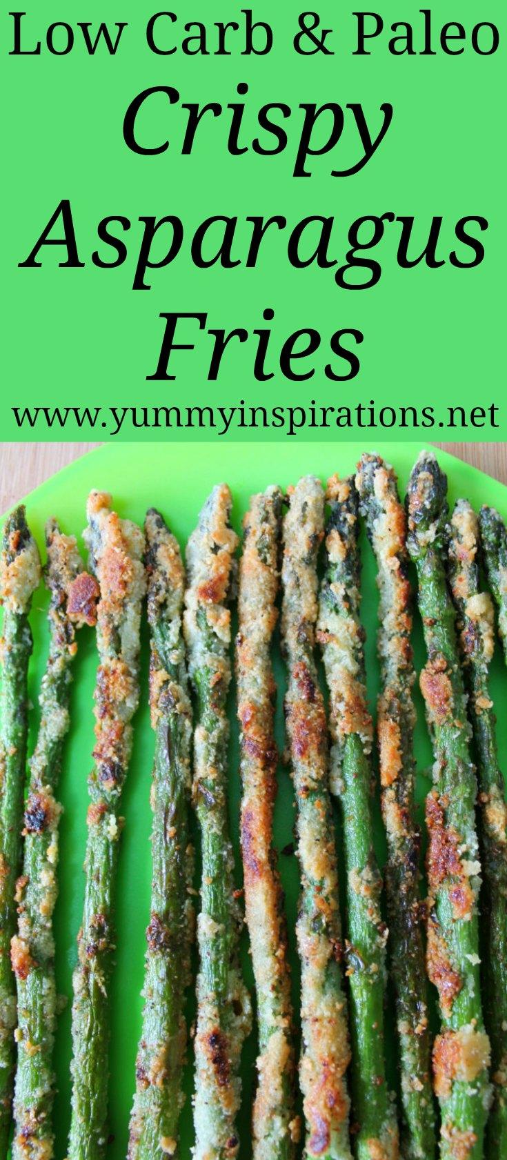 Keto Crispy Asparagus Fries Recipe - Low Carb & Paleo friendly asparagus recipes