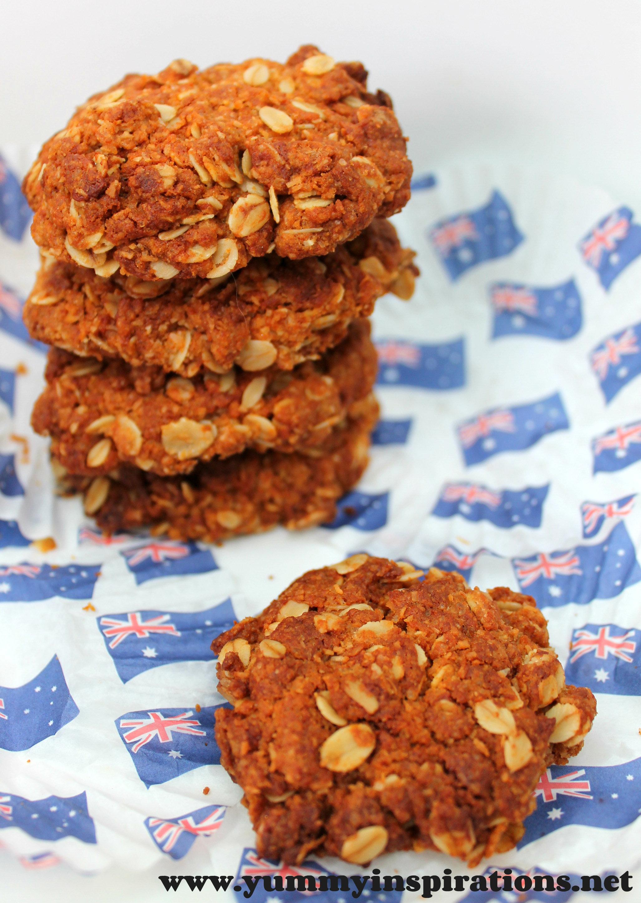 Anzac Biscuits Recipe Yummy Inspirations