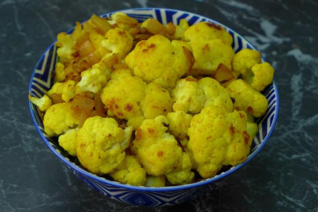 Turmeric Sauteed Cauliflower