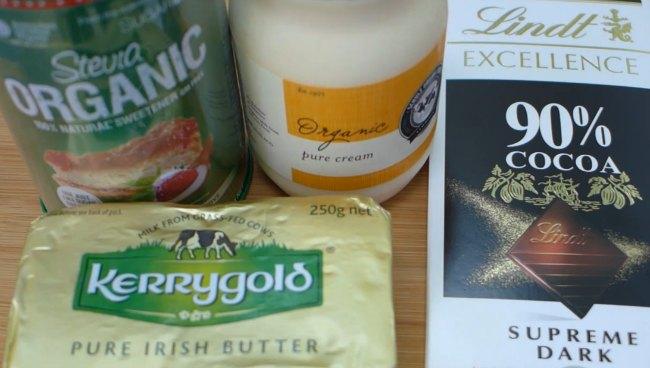 Ingredients for Keto Chocolate Truffles