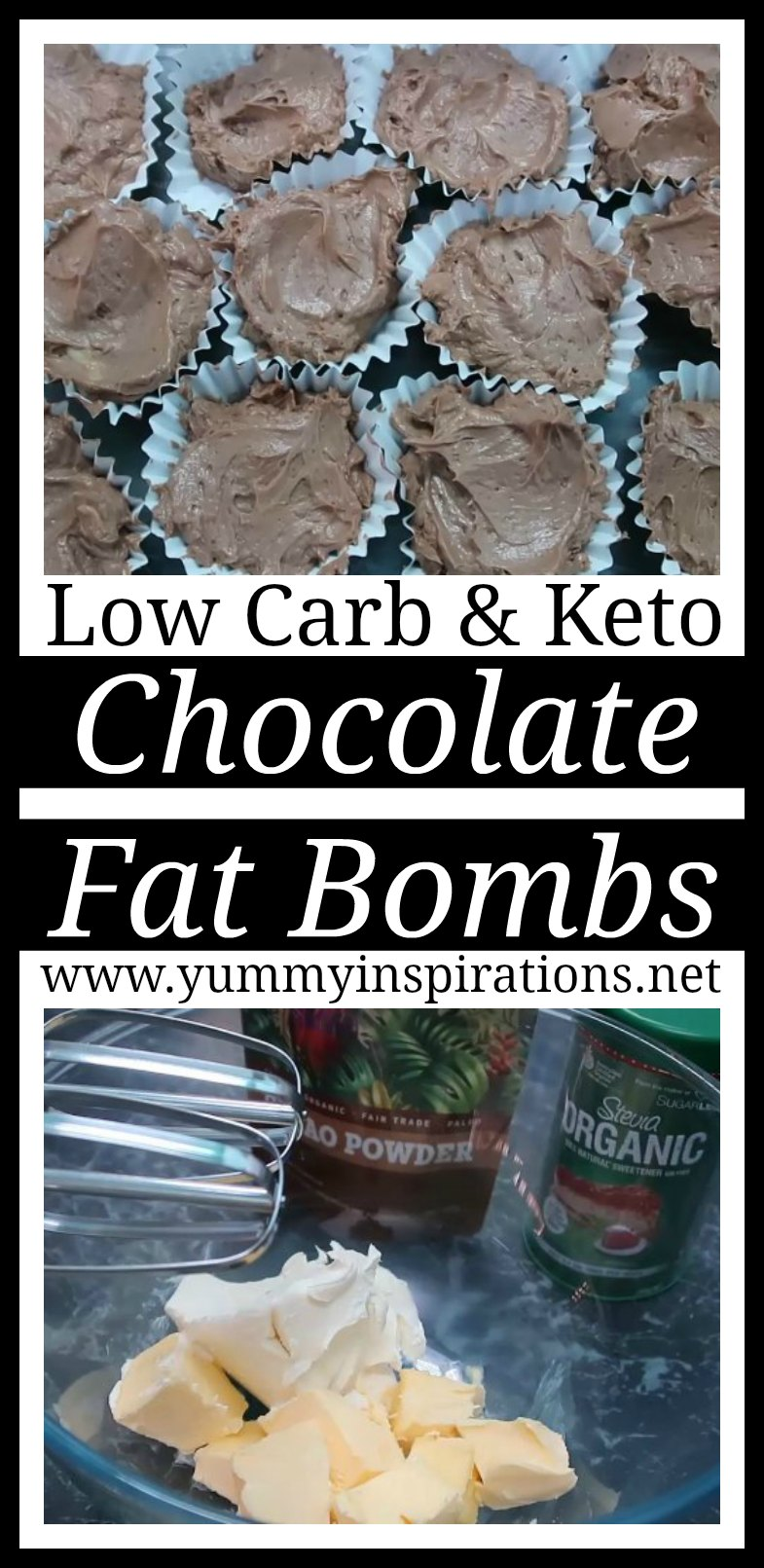Ketogenic Chocolate Fat Bombs Recipe - Easy Low Carb & Keto Diet Friendly Fat Bomb with cream cheese