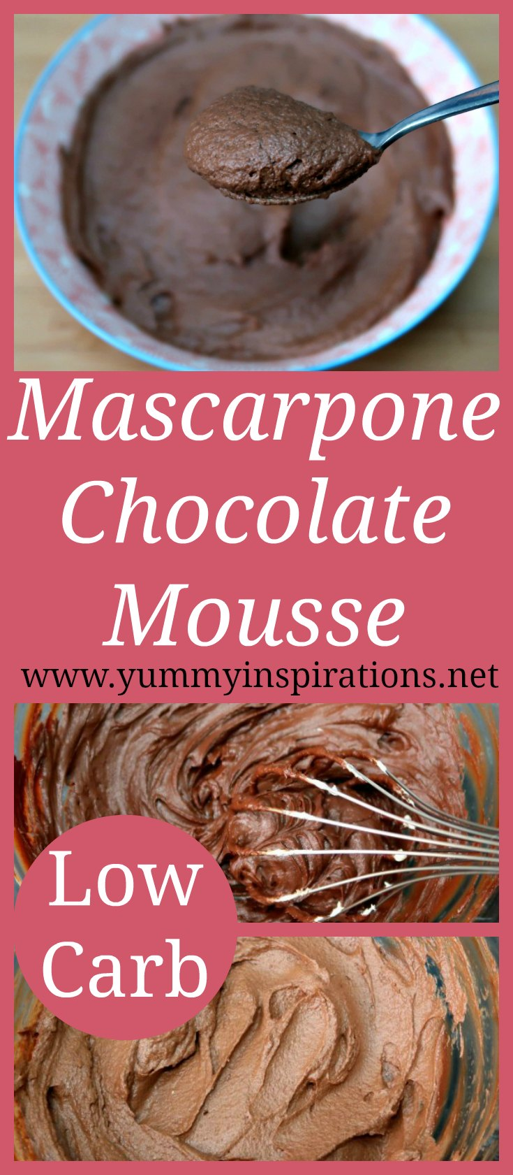 Low carb chocolate mousse recipe with mascarpone cheese - easy keto desserts