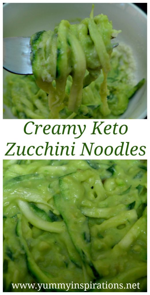 Zucchini Pasta Recipe – Creamy Avocado Zoodles