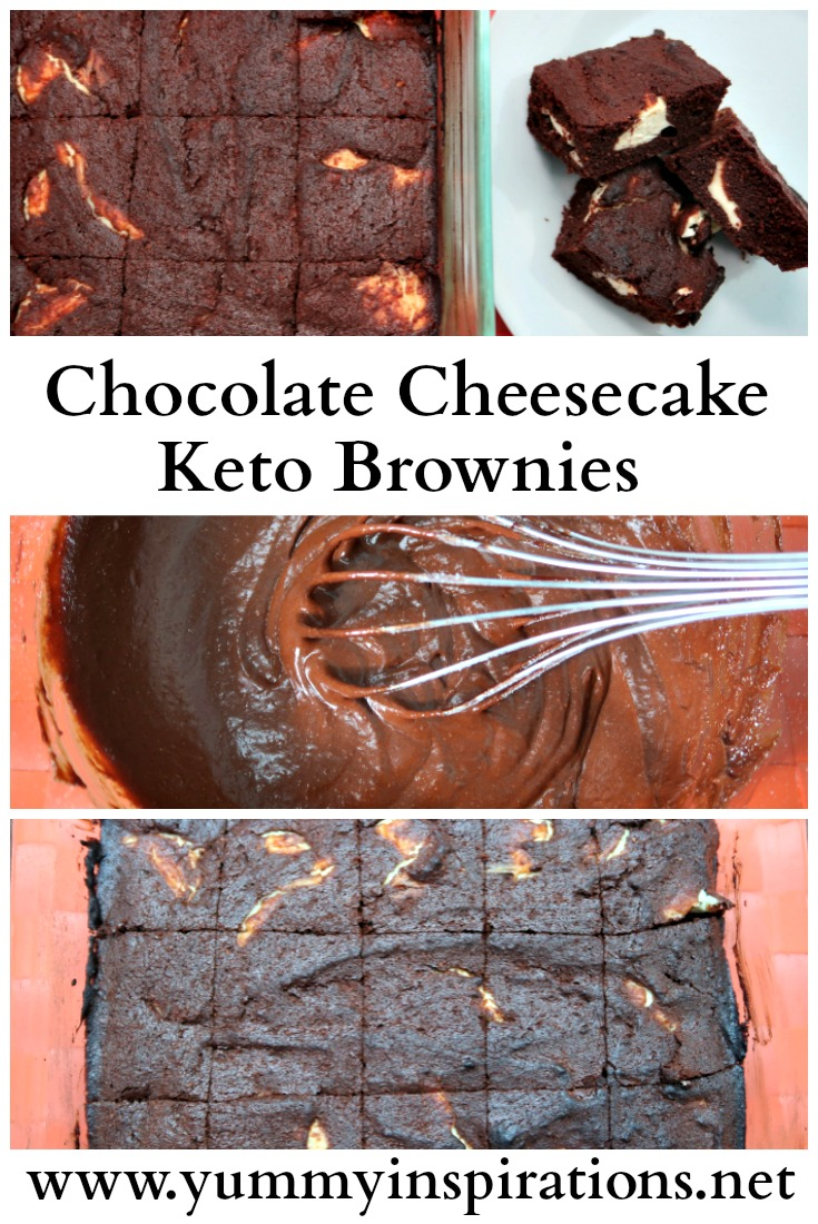 Chocolate Cheesecake Keto Brownies - the best, easy Nigella Lawson adapted low carb cream cheese flourless brownies + the recipe and video tutorial.