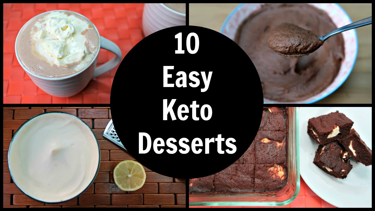 10 Easy Keto Desserts - Simple Ketogenic Dessert Recipes
