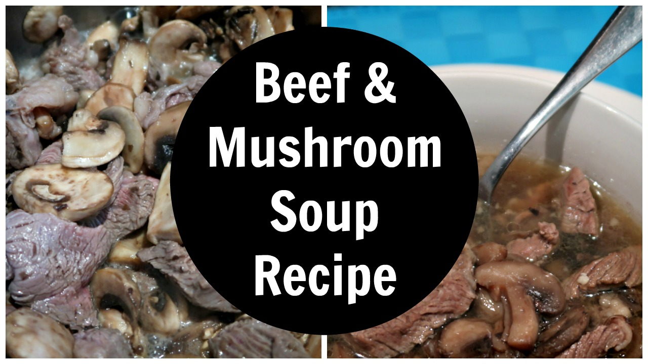 Low Carb Beef and Mushroom Soup Collage
