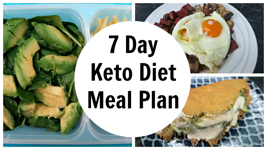 7 Day Keto Diet Meal Plan Menu For Weight Loss Ketogenic Foods