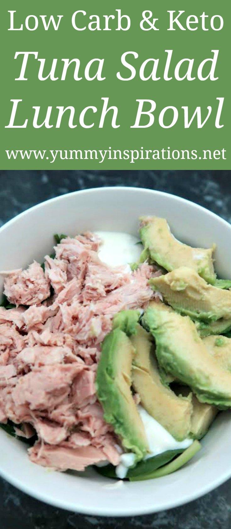 Low Carb Tuna Salad Lunch Bowl Recipe - easy keto lunch ideas