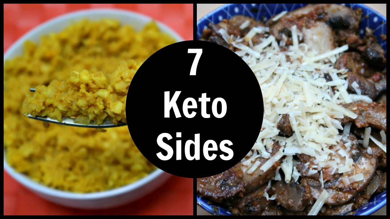 7 Keto Side Dishes - Easy Low Carb Sides - LCHF Recipes