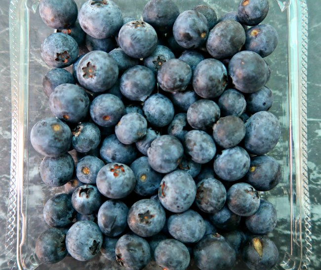 Punnet of blueberries which is a low carb fruit snack