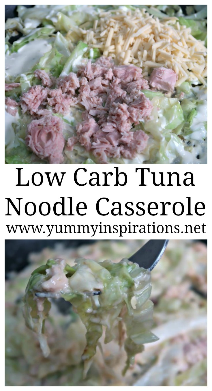 Low Carb Tuna Noodle Casserole Recipe - A Cheesy Keto Casserole with Cabbage Noodles - Easy Ketogenic Diet Friendly & Gluten Free Dinner Comfort Food Recipes
