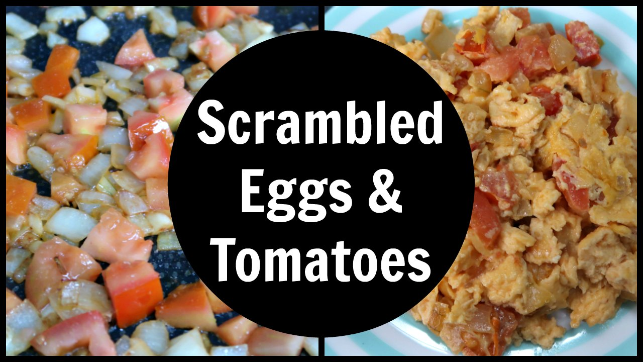 Scrambled Eggs With Tomatoes Recipe - A low carb and keto diet friendly breakfast idea that's like a Shakshuka