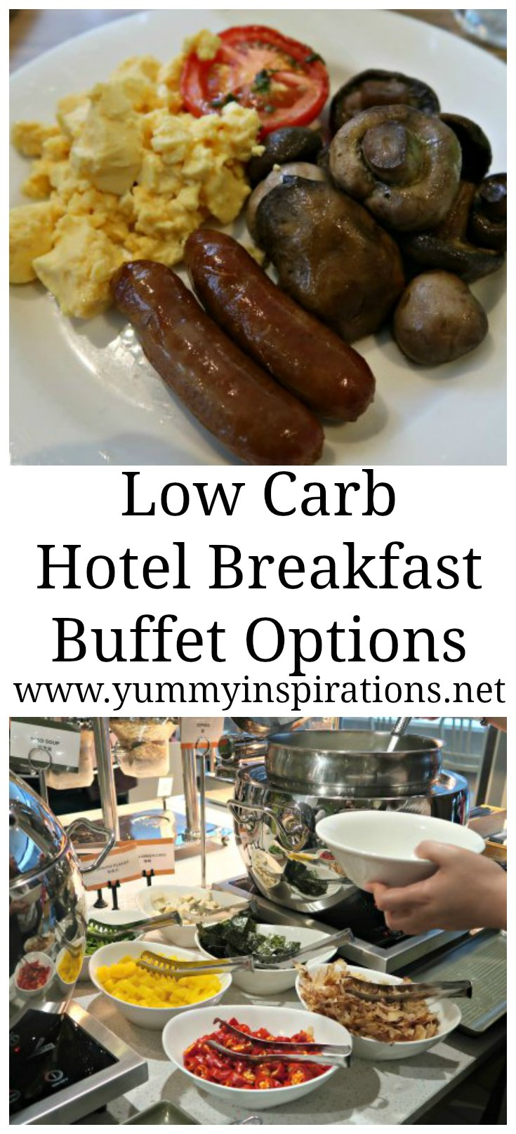 Low Carb Hotel Breakfast Buffet Options - Keto Meals and Food Ideas for when you are faced with a breakfast buffet while traveling.