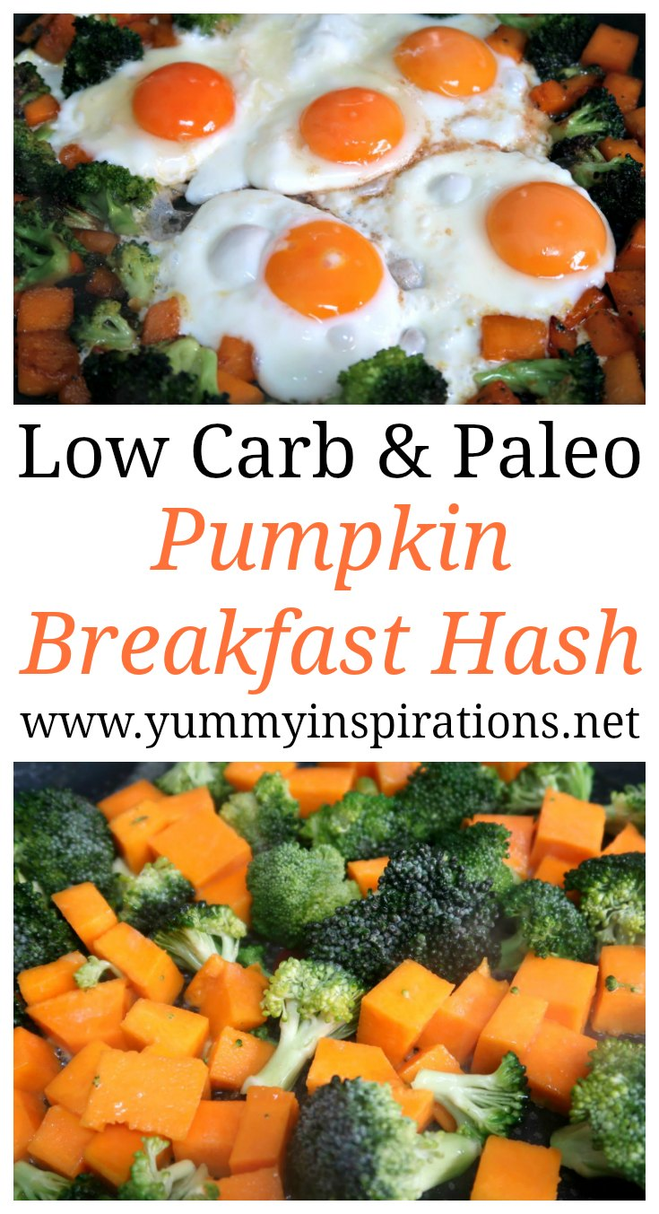 Low Carb Pumpkin Breakfast Hash Recipe - Easy & Healthy Keto Breakfast Recipes that's Paleo and Dairy Free friendly too.