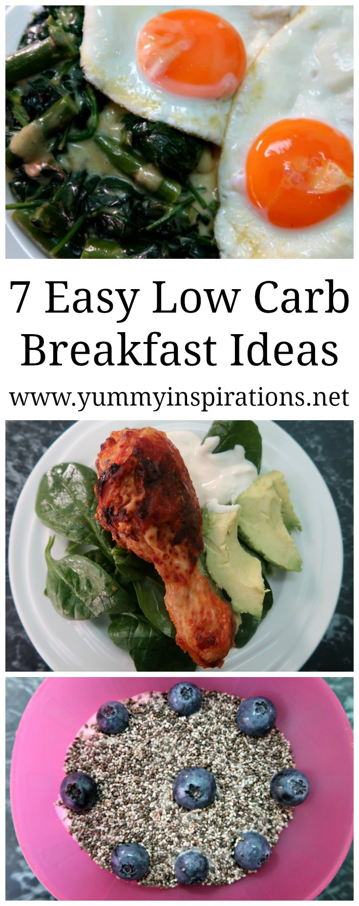 7 Low Carb Breakfast Ideas - A Week of Easy Keto Breakfasts that are LCHF and Ketogenic Diet friendly - without eggs, vegetarian and meaty options.