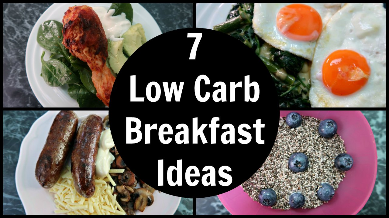 Low carb breakfast ideas collage