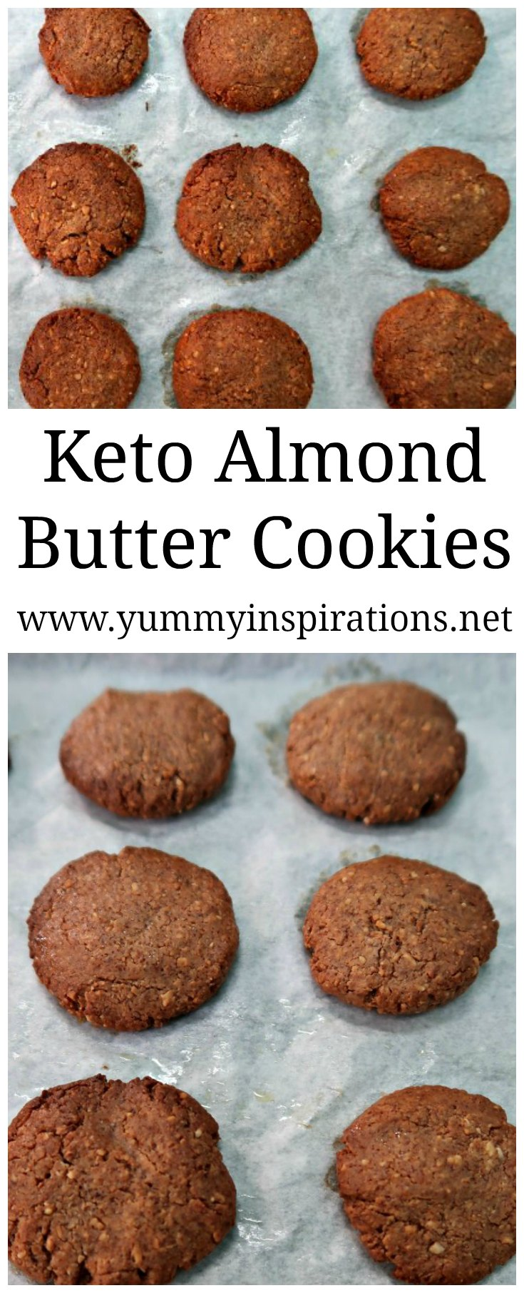 Keto Almond Butter Cookies - Easy Low Carb Cookies with only 3 ingredients - Almond Butter, Eggs and Stevia. Completely flourless, Paleo, Whole 30 and gluten free too.