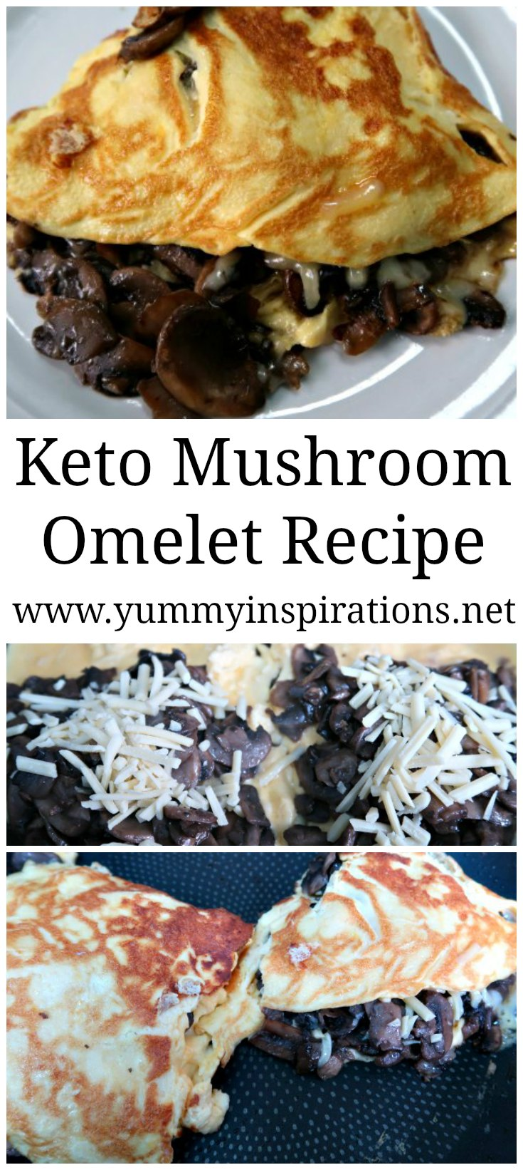 Keto Mushroom Omelet Recipe - Easy Low Carb & Gluten Free Omelette Breakfast Recipes with fillings ideas for everyday.