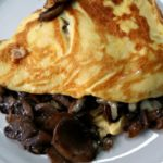 Keto Mushroom Omelette on a plate