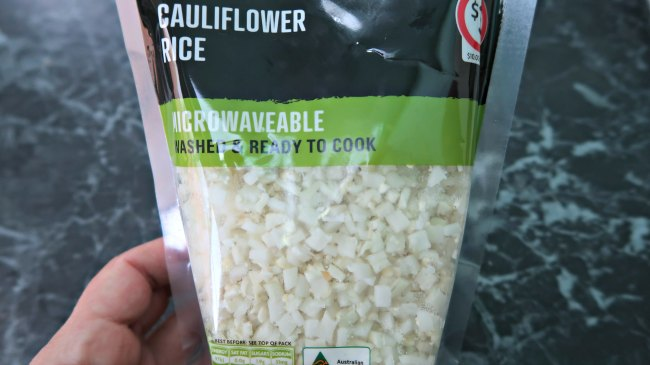 Package of cauliflower rice