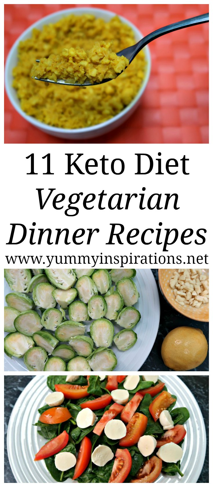 11 Keto Vegetarian Dinner Recipes - Easy Low Carb Meal Ideas that are perfect for meat free dinners for your Ketogenic Diet Meal Plan.