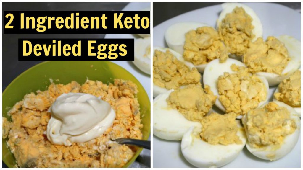 2 Ingredient Keto Deviled Eggs