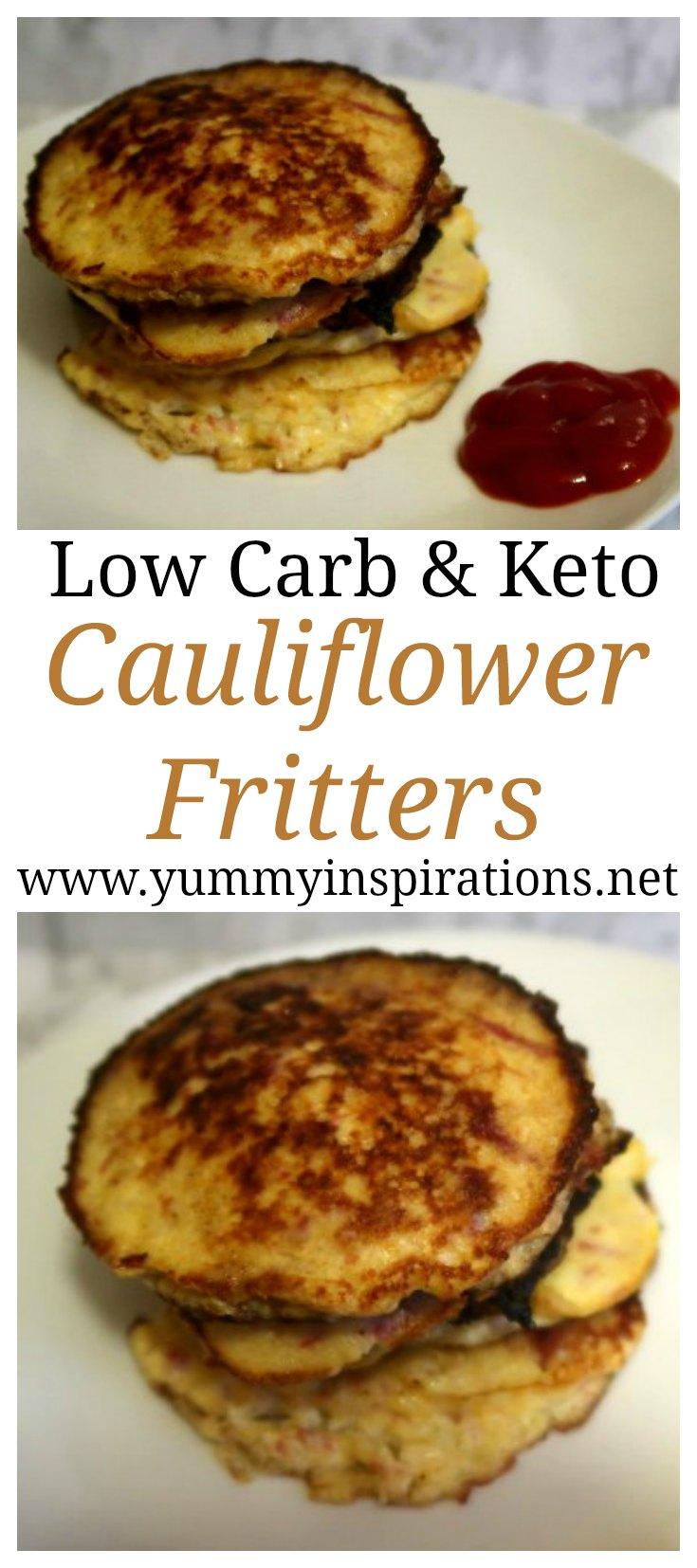 Keto Cauliflower Fritters with Irish Corned Beef - Easy Low Carb Recipes