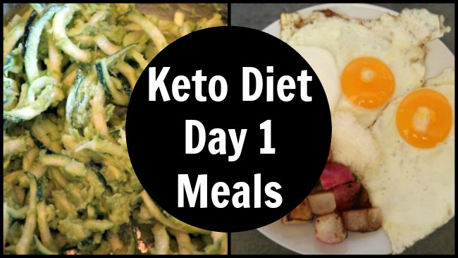 Keto Day 1 - Collage of meals