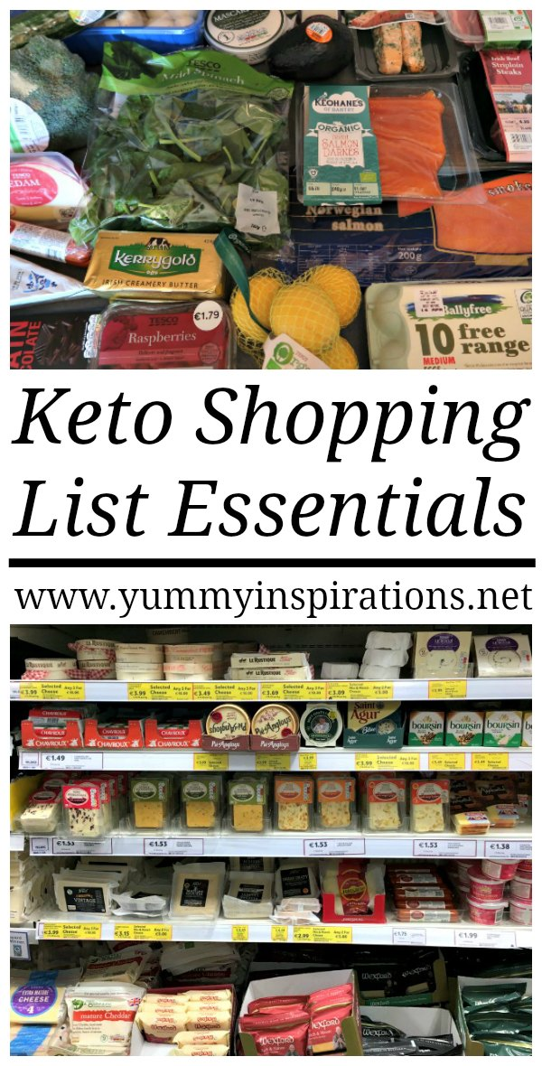 Keto Shopping List Essentials Great For Low Carb Ketogenic Diet