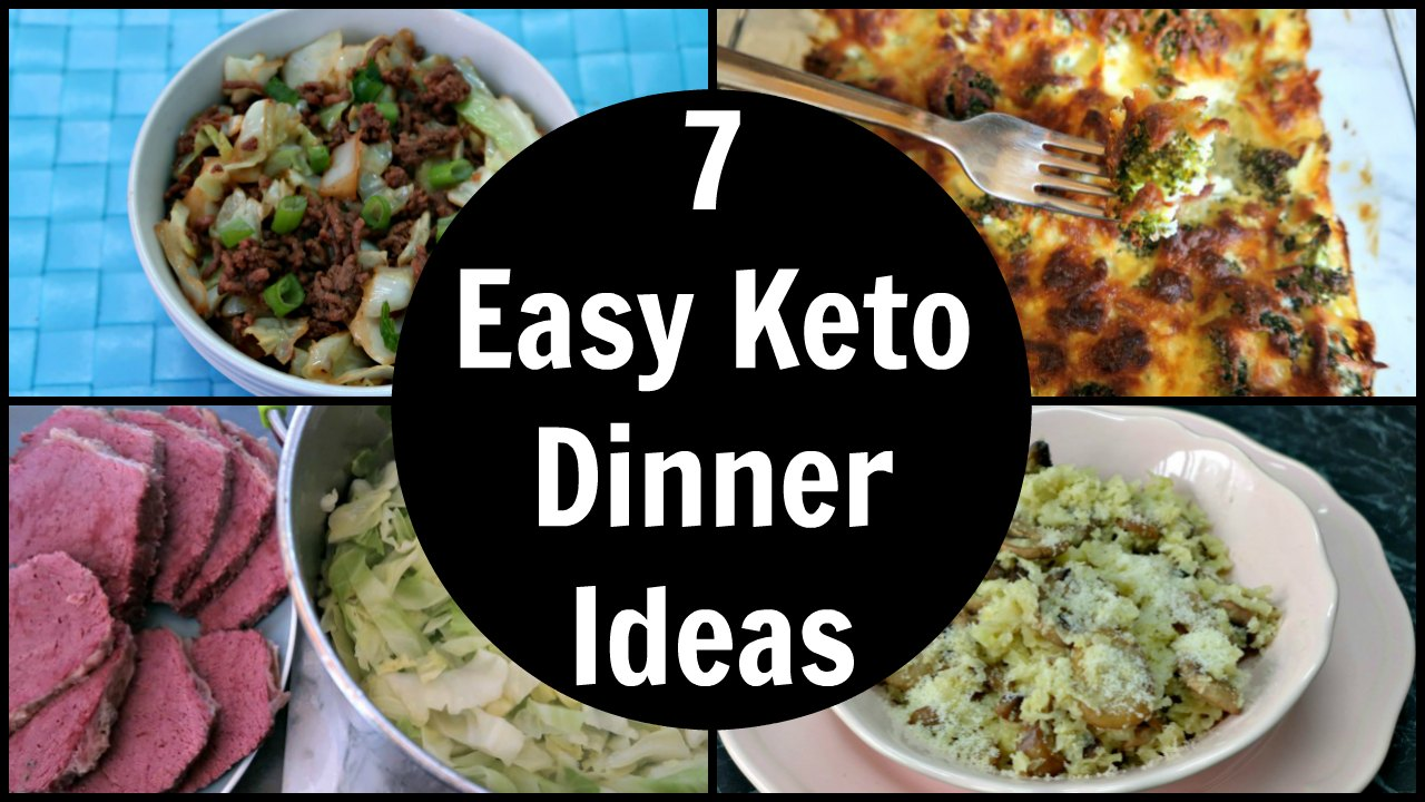 7 Easy Keto Dinner Ideas - Quick Low Carb & Ketogenic Diet Dinners