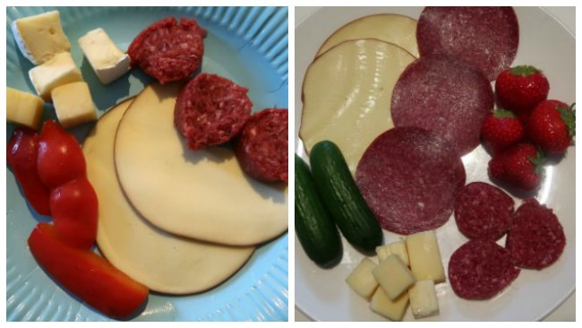 Low Carb No Cook Meals - Meat and cheese platter