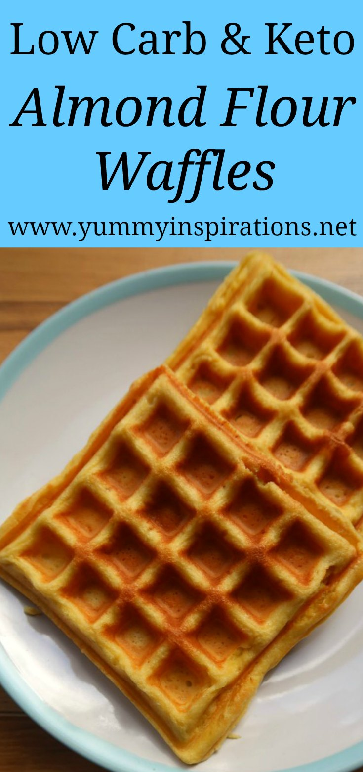 Low carb waffles with almond flour - easy keto breakfast ideas