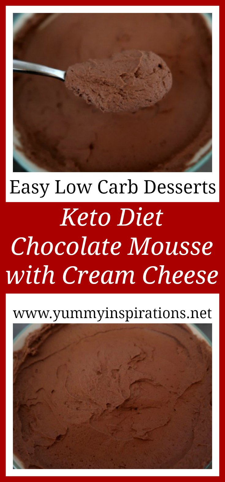 Keto Diet Chocolate Mousse With Cream Cheese Recipe - Easy Low Carb Desserts