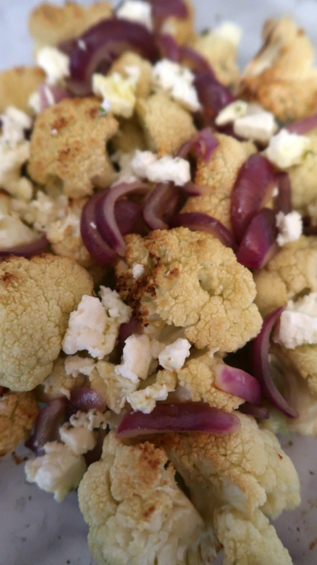Low Carb Roasted Cauliflower Salad for winter