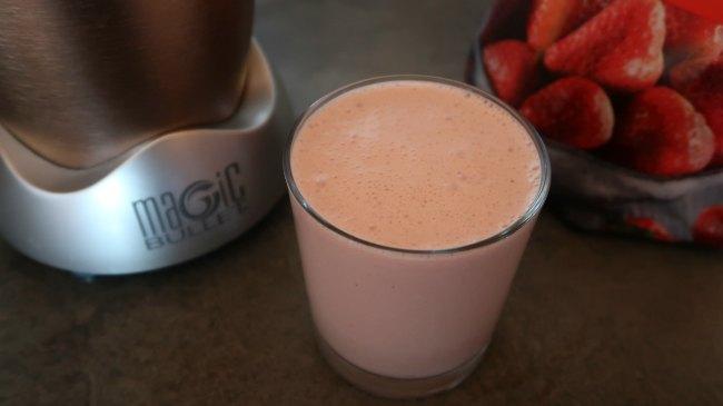 Keto breakfast shake in a glass