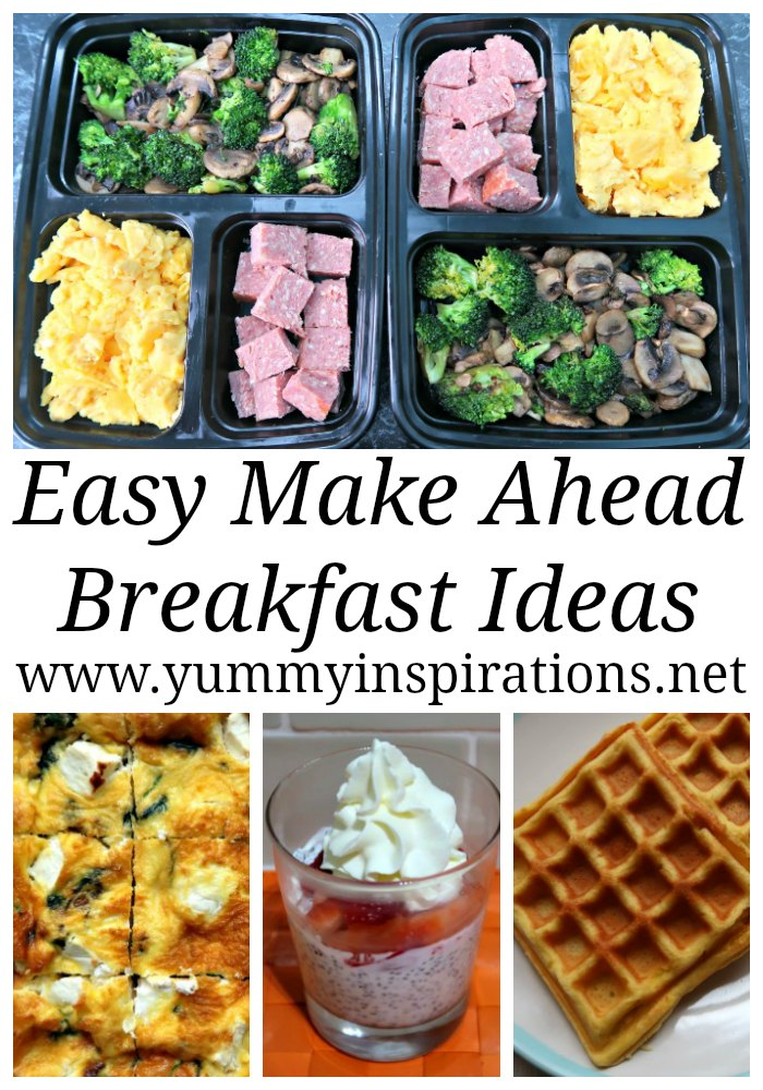 Easy Make Ahead Breakfast Ideas - Quick Recipes to meal prep ahead of time to have healthy, gluten free, low carb breakfasts ready to go in the morning.