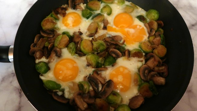 Simple Brussels Sprout Breakfast Hash