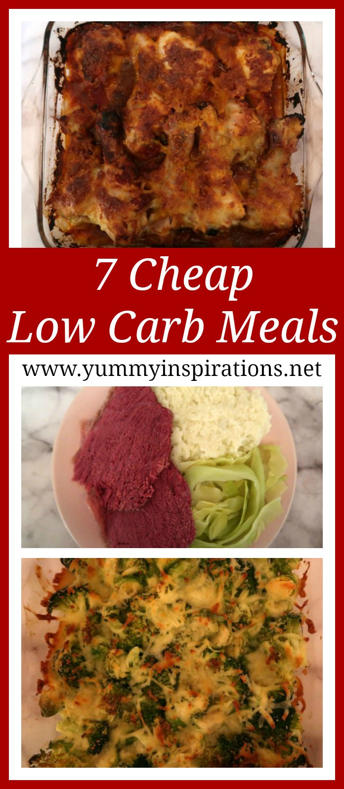 7 Cheap Low Carb Meals - a week of easy Keto Diet dinner recipes on a budget.