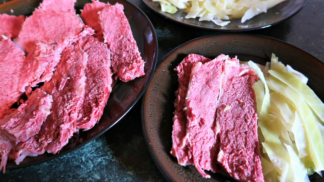 Authentic Irish Corned Beef and Cabbage - Frugal dinner idea