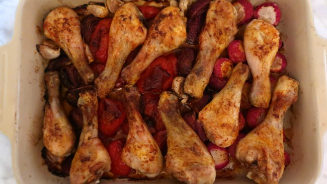 Cheap Easy Healthy Meal Idea - Low Carb Chicken Tray Bake