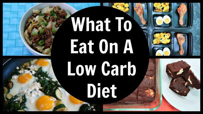 Collage of low carb meals