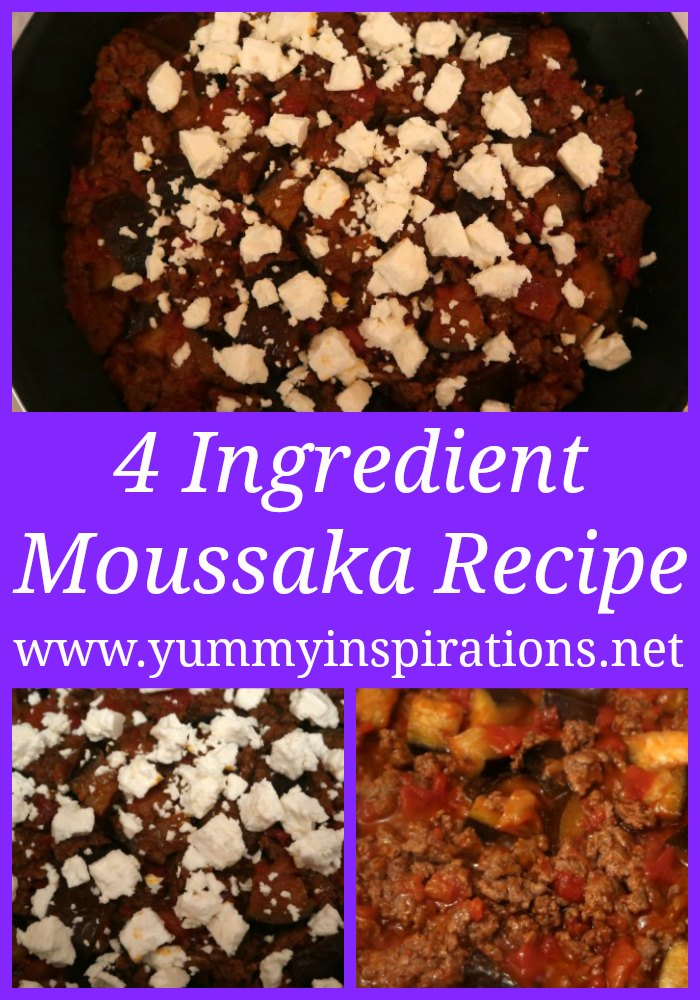 Easy Moussaka Recipe - No bake and with only 4 low carb ingredients - a simple Keto Diet friendly dinner idea.