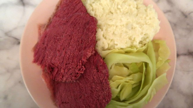 Low Carb Corned Beef Dinner Idea