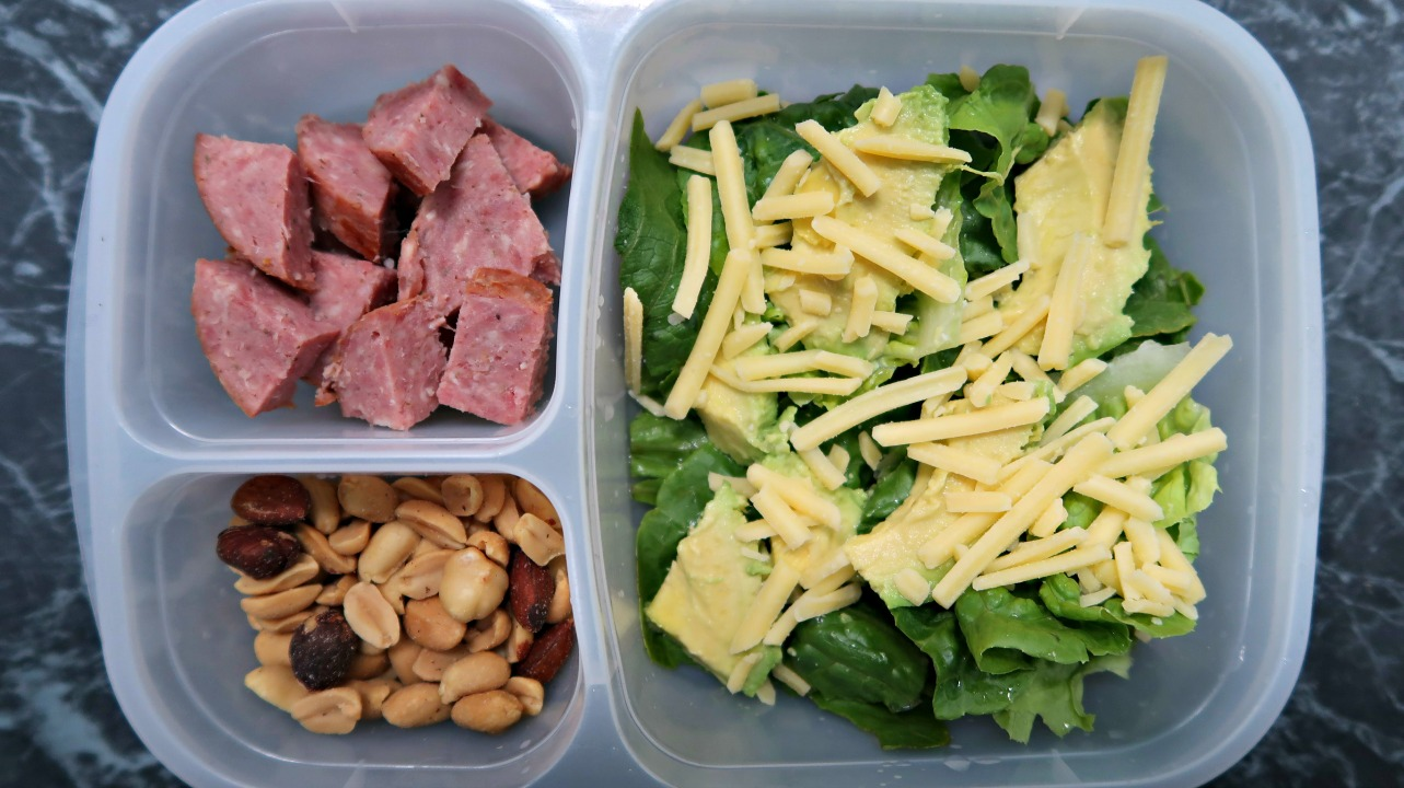 Low Carb Packed Lunch Idea