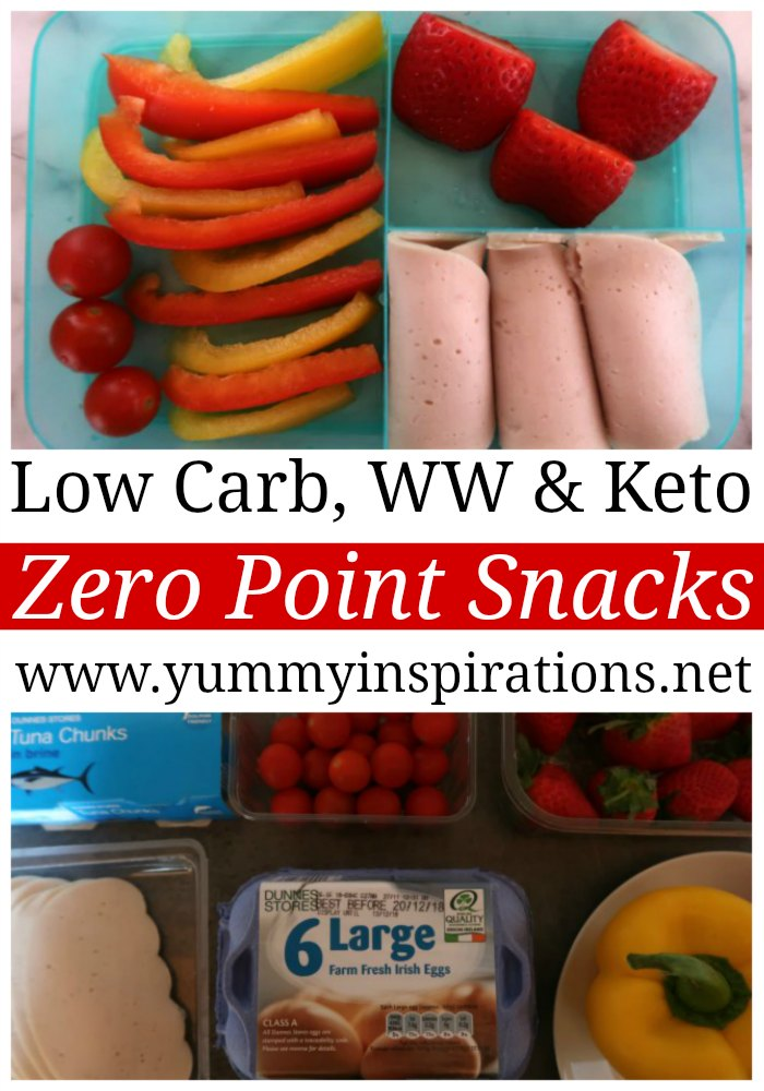 Low Carb Zero Point Snacks For Weight Watchers & The Ketogenic Diet - Easy Low Carb, WW and Keto Diet friendly snack ideas