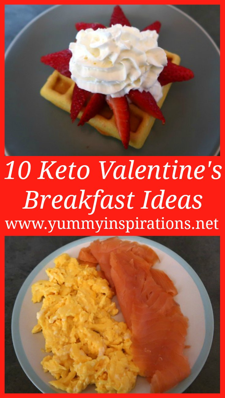 10 Keto Valentine's Day Breakfast Ideas - Easy & Healthy Low Carb Breakfast Options for breakfast treats on an indulgent day like Valentine's Day.