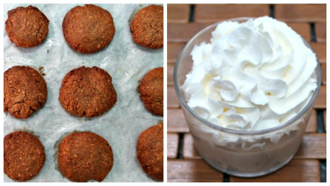Almond butter and peanut butter snack ideas - cookies and mousse