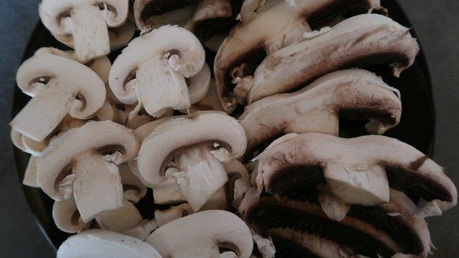 Mushrooms for stroganoff