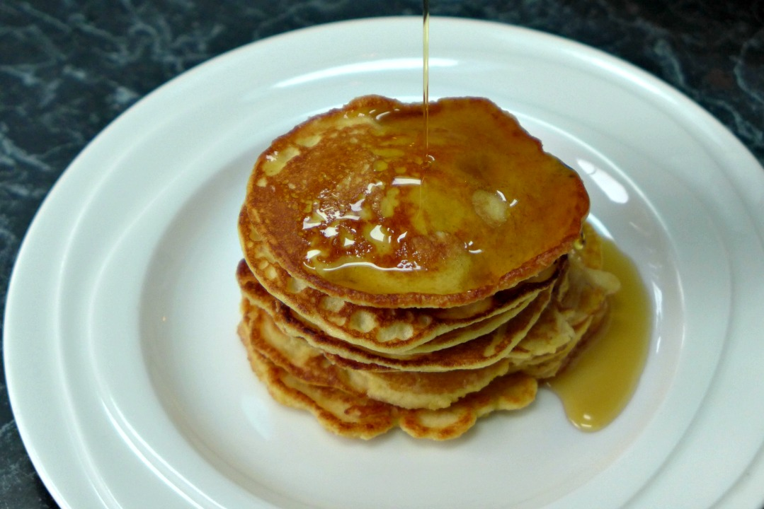Pancakes for Valentine's Day Breakfast