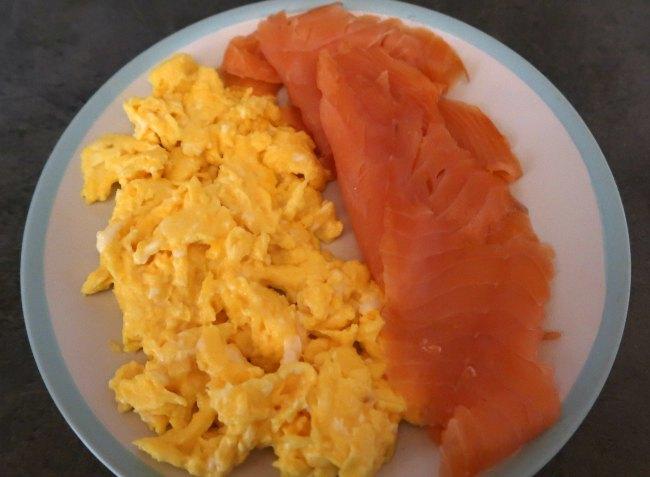 Smoked Salmon and Scrambled Eggs Breakfast Idea